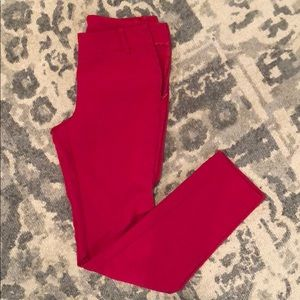 Red Benetton pants size 2